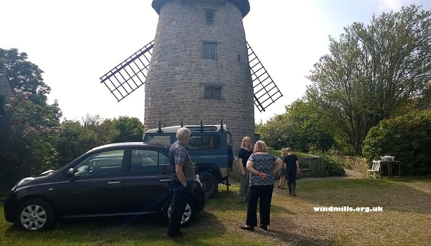 Visitors Stembridge Tower Mill in Somerset