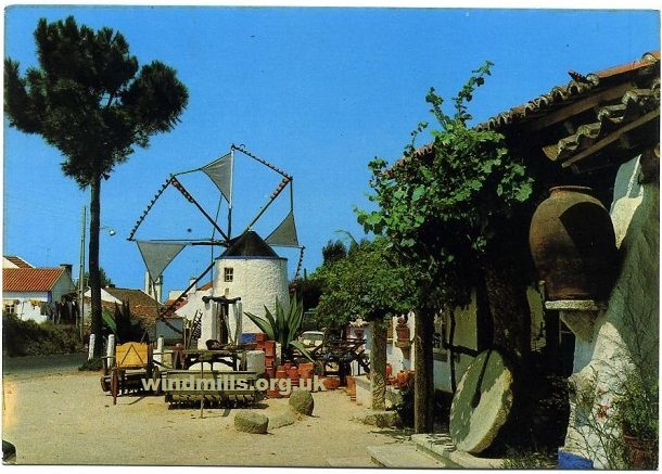 postcard windmill portugal