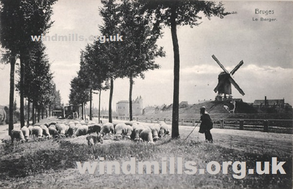 windmill bruges belgium