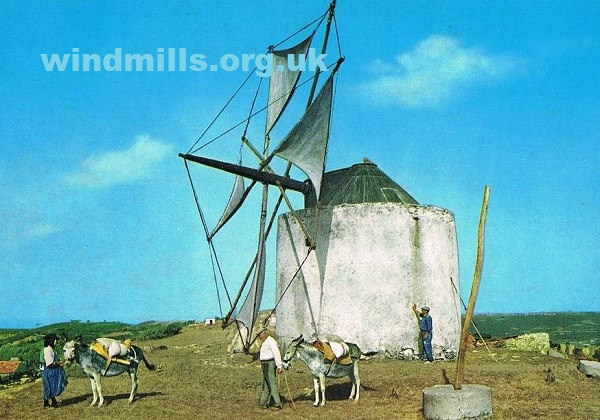 windmill donkey portugal