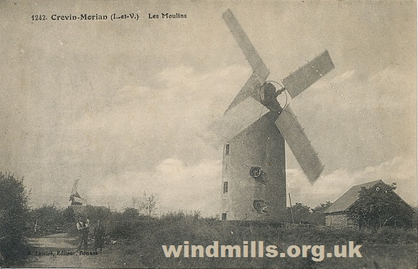 windmill postcard france