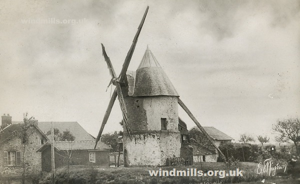 windmill postcard gastins france