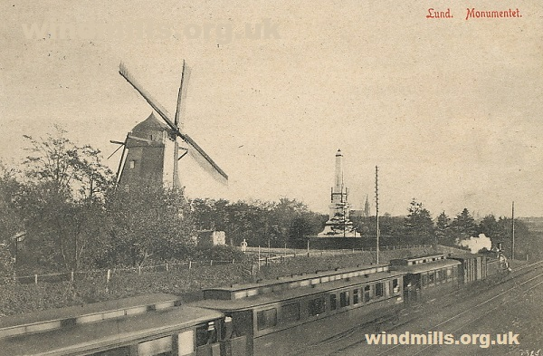 postcard windmill lund sweden