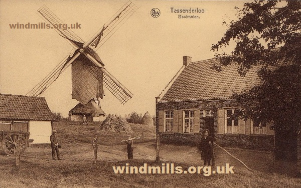 wind mill molen belgium