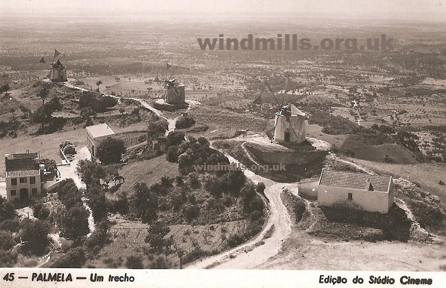 windmill postcard portugal
