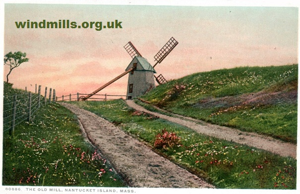 postcard windmill usa