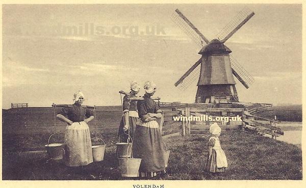 windmill volendam holland
